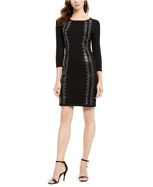 Calvin Klein Rhinestone Sweater Dress