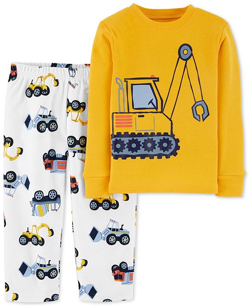 Carter's Toddler Boys 2-Pc.Construction Pajamas Set