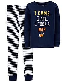 Little & Big Boys 2-Pc. Cotton Thanksgiving Pajamas Set