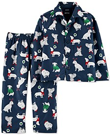 Toddler Boys 2-Pc. Holiday Dog Pajamas Set
