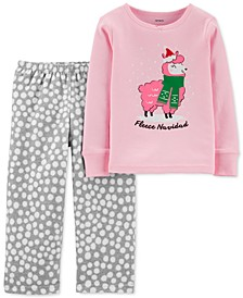 Toddler Girls 2-Pc. Holiday Pajamas Set