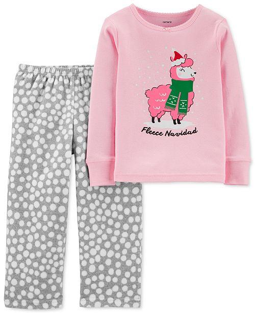 Carter's Toddler Girls 2-Pc. Holiday Pajamas Set