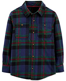 Big & Little Boys Cotton Plaid Button-Down Shirt