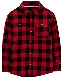 Big & Little Boys Cotton Buffalo Check Button-Down Shirt