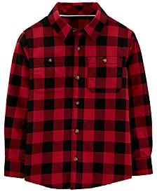 Big & Little Boys Cotton Buffalo Check Button-Down Shirt