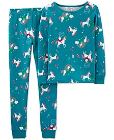 Little & Big Girls 2-Pc. Cotton Unicorn Pajamas Set