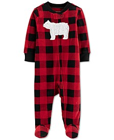 Baby Boys Footed Fleece Polar Bear Coverall