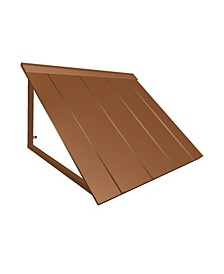 "6' Houstonian Metal Standing Seam Awning, 44"" W x 24"" H x 36"" D"