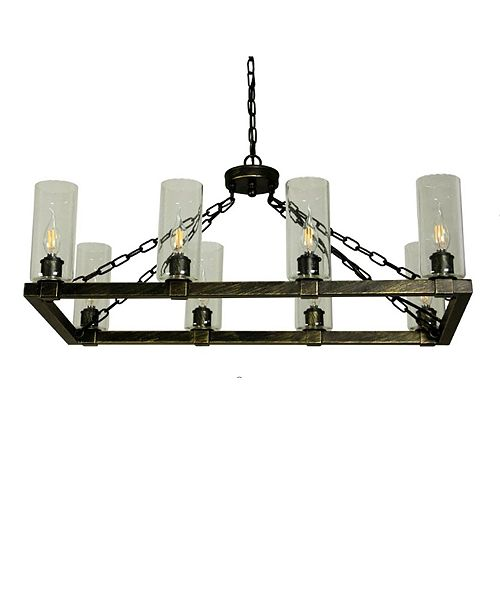 Cenports Canyon Home 8 Light Kitchen Island Chandelier