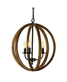 Canyon Home 3 Light Rustic Globe Chandelier