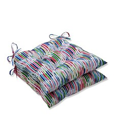Drizzle Summer Wrought Iron Seat Cushion, Set of 2