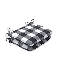 """Anderson Check 15.5"""" x 18.5"""" Outdoor Chair Pad Seat Cushion 2-Pack"""