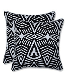 "Tribal Dimensions 18"" x 18"" Outdoor Decorative Pillow 2-Pack"