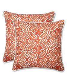 "Merida 18"" x 18"" Outdoor Decorative Pillow 2-Pack"
