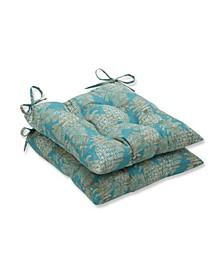 Carate Batik Lagoon Wrought Iron Seat Cushion, Set of 2