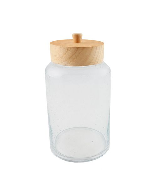 Thirstystone CLOSEOUT Glass Canister with Wood Lid, Large