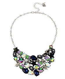 Betsey Johnson Mixed Star & Stone Cluster Statement Bib Necklace