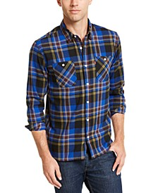 Men's Dual Pocket Plaid Flannel Shirt