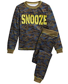 Big Boys 2-Pc. Camo-Print Snooze Pajama Set