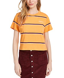 Cotton Striped Cropped T-Shirt