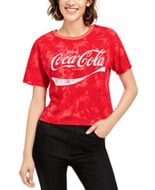Juniors' Coca-Cola Tie-Dye T-Shirt