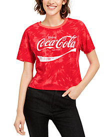 Love Tribe Plus Size Tie-Dyed Coca-Cola Cropped T-Shirt