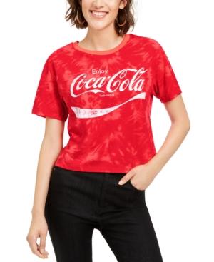 Juniors' Coca-Cola Tie-Dye T-Shirt