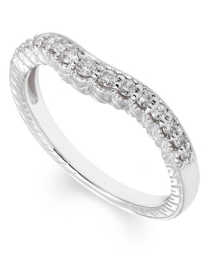Certified Diamond (1/4 ct. t.w.) Band in 14K White Gold -  Macy's