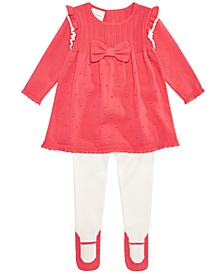 Baby Girls 2-Pc. Bow Sweater & Footed Tights Set, Created For Macy's