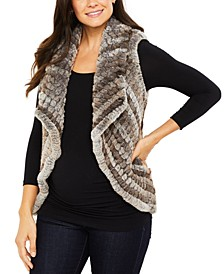 Maternity Faux-Fur Vest