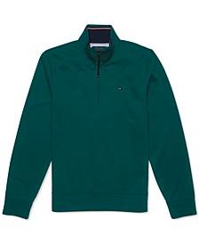 Men's Bill Mock Neck Sweater with Extended Half Zipper Pull