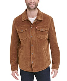 Men's Faux Suede Shirt Jacket