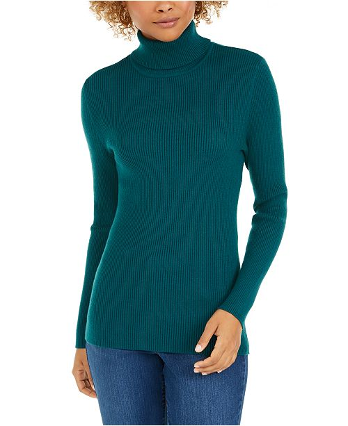 Style & Co Ribbed Turtleneck Sweater, Created for Macy's