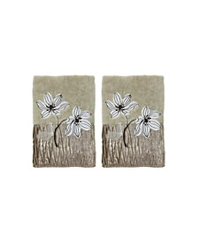Magnolia Floral 2-Pc. Fingertip Towel Set