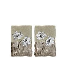 Croscill Magnolia Floral 2-Pc. Fingertip Towel Set