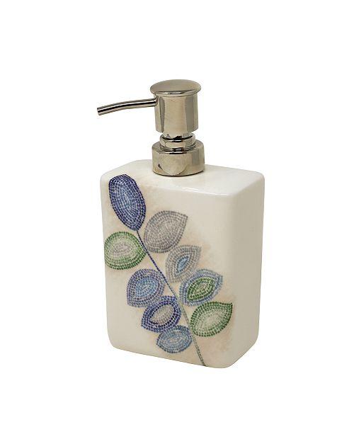 Croscill Mosaic Leaves Spa Lotion Dispenser