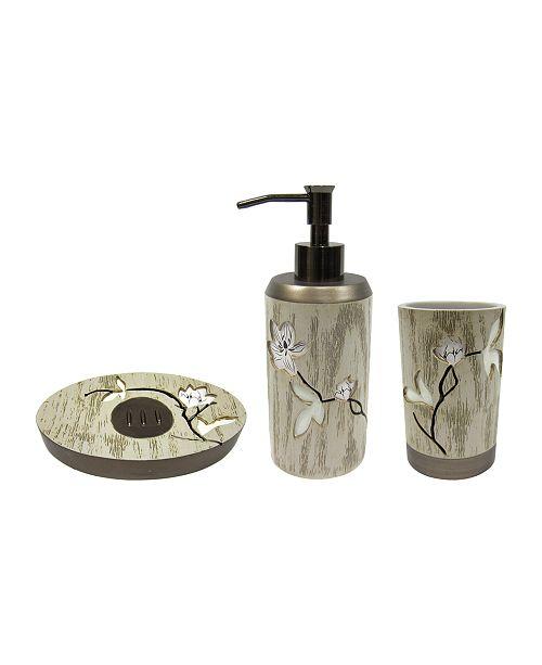Croscill Magnolia Floral 3-Pc. Bath Accessory Bundle
