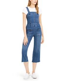 Dollhouse Juniors' Denim Zipper Overalls