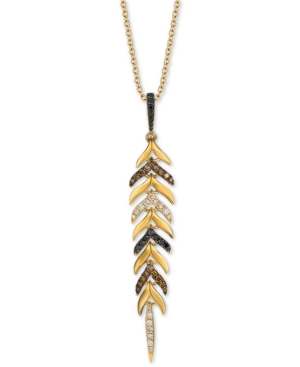 """Heavenly Feather Diamond (1 ct. t.w.) 20"""" Pendant Necklace in 14k Gold"""