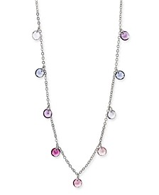 """INC Silver-Tone Shaky Stone Strand Necklace, 15-1/2"""" + 3"""" extender, Created For Macy's"""