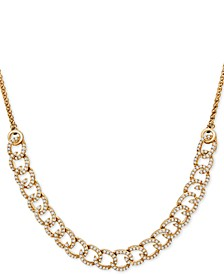 Diamond Curb-Link Bolo Necklace (1 ct. t.w.) in 10k Gold, Created For Macy's