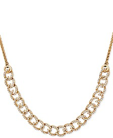 Wrapped in Love™ Diamond Curb-Link Bolo Necklace (1 ct. t.w.) in 10k Gold, Created For Macy's