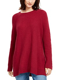 Bateau-Neck Tunic Sweater