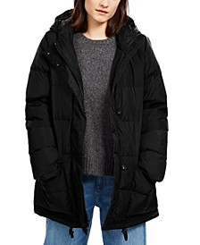 Hooded Puffer Jacket, Regular & Petite