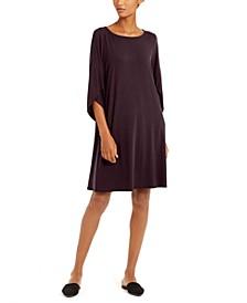 Tulip-Sleeve Shift Dress
