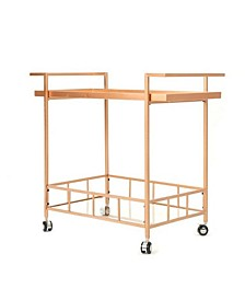 Abigale Industrial Bar Cart, Quick Ship