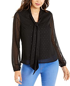 V-Neck Tie Top, Created For Macy's