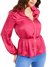 Zip Peplum Top, Created For Macy's