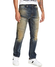 Men's Striker Athletic-Tapered Fit Stretch Destroyed Jeans