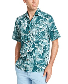 Men's Shadow Toucan Classic-Fit Tropical-Print Silk Camp Shirt